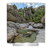 Restonica Valley - Corsica Shower Curtain