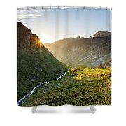 Rila Mountain Shower Curtain