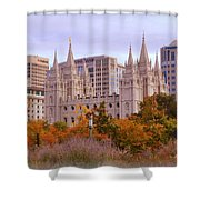 Salt Lake City Lds Temple Shower Curtain