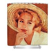 Sandra Dee, Vintage Actress Shower Curtain