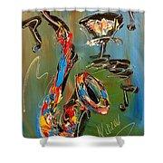 Saxophone Shower Curtain