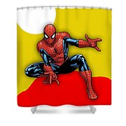 Spiderman Collection Shower Curtain