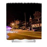 St Augustine City Street Scenes Atnight Shower Curtain