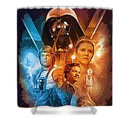 Star Wars Episode 2 Art Shower Curtain