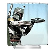 Star Wars On Poster Shower Curtain