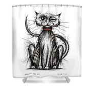 Stinker The Cat Shower Curtain