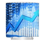Stock Market Concept Shower Curtain