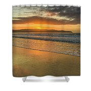 Sunrise Seascape At The Beach Shower Curtain