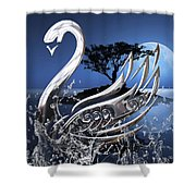 Swan Art. Shower Curtain