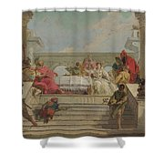 The Banquet Of Cleopatra Shower Curtain