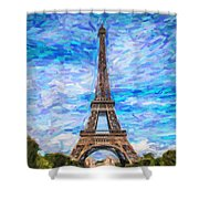 The Eiffel Tower Shower Curtain