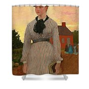 The Red School House Shower Curtain