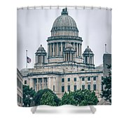 The Rhode Island State House On Capitol Hill In Providence Shower Curtain