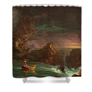 The Voyage Of Life, Manhood Shower Curtain
