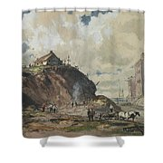 The Way The City Is Built Shower Curtain