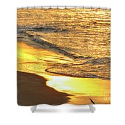 The Wave In Blue Shower Curtain