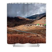 Top View Of Kupup Valley, Sikkim, Himalayan Mountain Range Shower Curtain