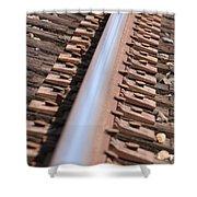 Train Track Shower Curtain
