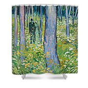 Undergrowth With Two Figures Shower Curtain