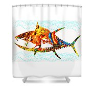 Underwater. Fish. Shower Curtain