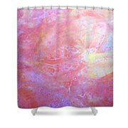 5. V1 Orange, Red And Yellow 'sun' Glaze Painting Shower Curtain
