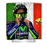 Valentino Rossi The Doctor  Shower Curtain