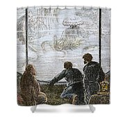 Verne: 20,000 Leagues, 1870 Shower Curtain