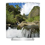 View Of Iao Needle Shower Curtain