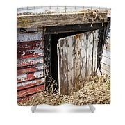 Vintage Grain Elevator Shower Curtain