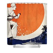 Vintage Hawaiian Art Shower Curtain