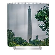 Washington Mall Monumet On A Cloudy Day Shower Curtain