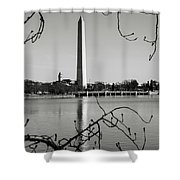 Washington Memorial In Washington Dc Shower Curtain