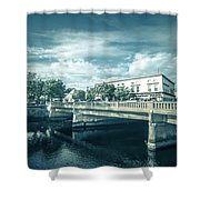 Westerly Is A Town On The Southwestern Shoreline Of Washington C Shower Curtain