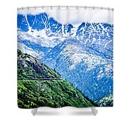 White Pass Mountains In British Columbia Shower Curtain