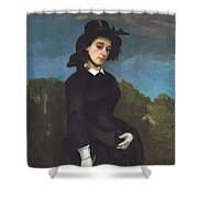 Woman In A Riding Habit Shower Curtain