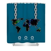 World Map Collection Shower Curtain