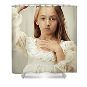 Young Girl Wearing A Crown Shower Curtain