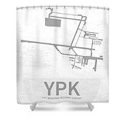 Ypk Pitt Meadows Regional Airport In Pitt Meadows Canada Runway  Shower Curtain