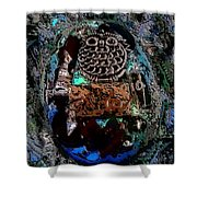 Abstract Orgone Shower Curtain