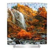 Nature Landscape Oil Painting Shower Curtain