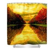 Painters Landscape Shower Curtain