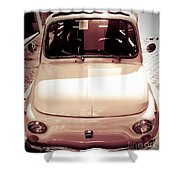 500 Fiat Toned Sepia Shower Curtain