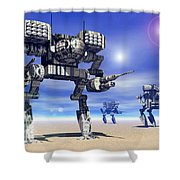 501st Mech Trinary Shower Curtain