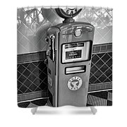 50's Gas Pump Bw Shower Curtain