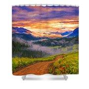 Art Landscape Shower Curtain