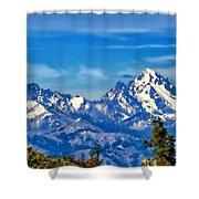 Color Landscape Shower Curtain