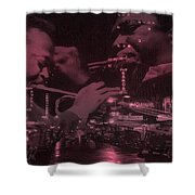 52nd Street Miles And Coltrane Shower Curtain