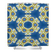 Fractal Floral Pattern Shower Curtain
