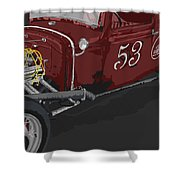 '53 Rat Rod Shower Curtain
