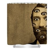 53384 Funny Wtf Shower Curtain